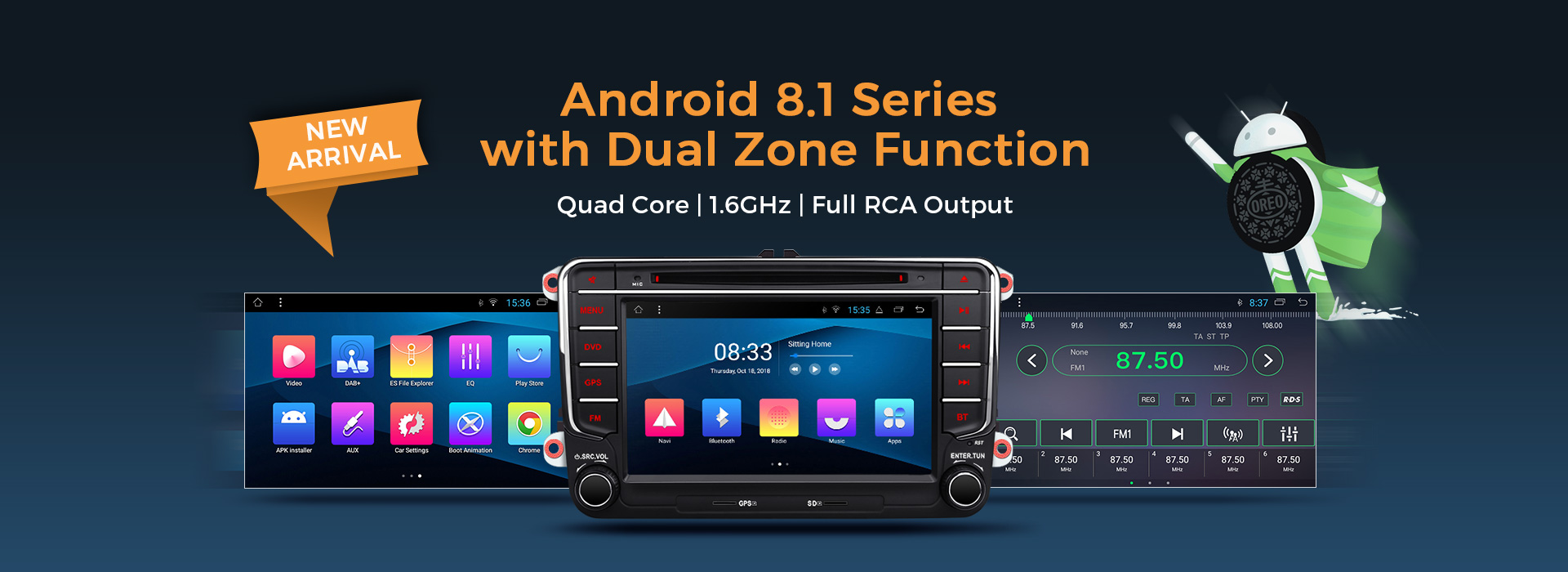 android 8.1 car stereos