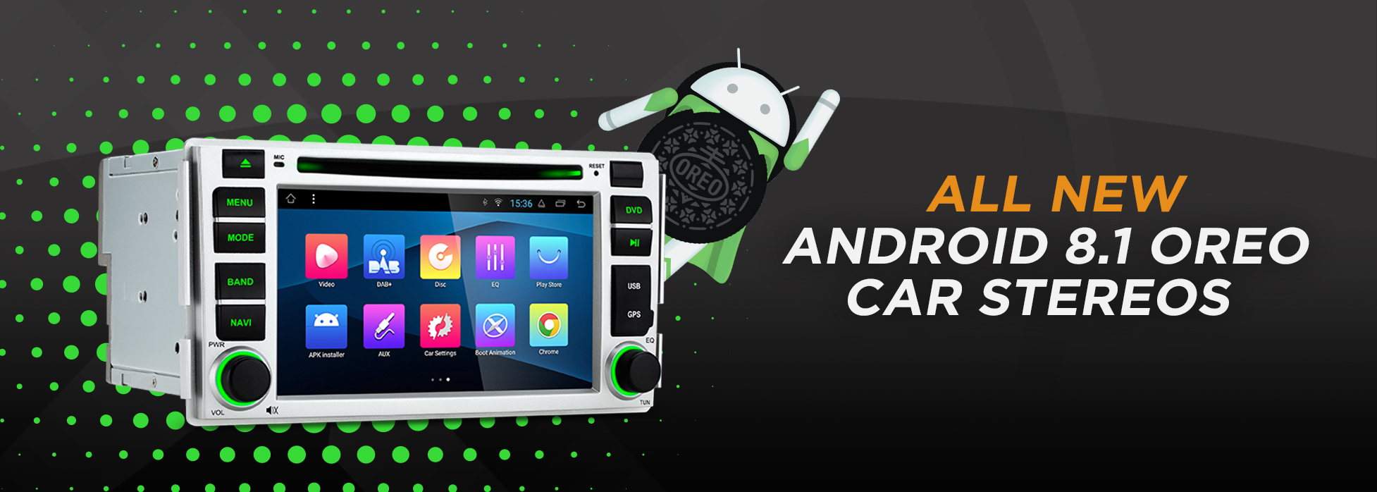 new android 8.1 car stereos banner