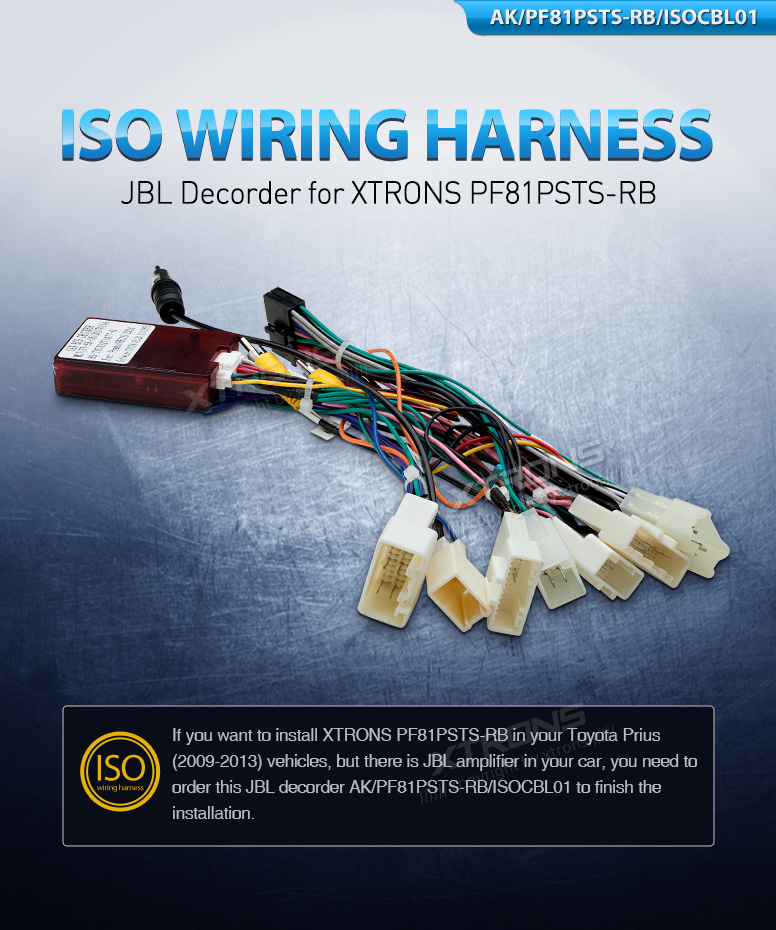 For Toyota Prious Car Stereo Radio ISO Wiring Harness Connector ...