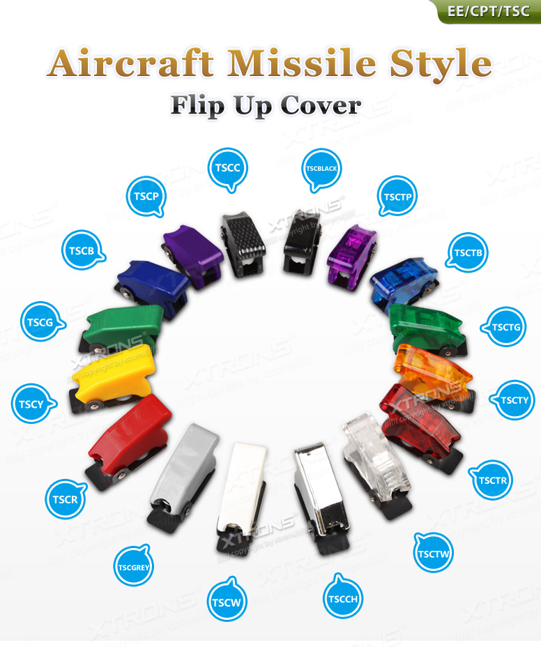 Chrome Style Aircraft Missile Style Toggle Switch Cover Flip