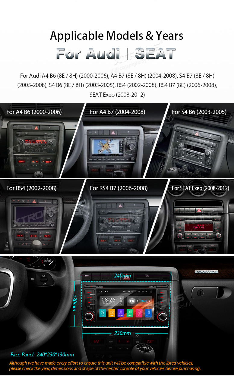 Android 71 7 Car Dvd Gps Hdmi Stereo Radio Wifi Fit For Audi A4 B6 B7 S4 Fuse Box Not Have Sound 5 Please Check To See Whether There Is Rns D Navigation System Or Bns 5x Basic If