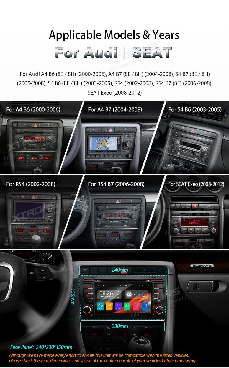 android 7 1 car dvd gps navi stereo radio fr 2002 2008 audi a4 b6 s4 rh ebay com 2002 Audi Car Audi A4 Owners Manual PDF