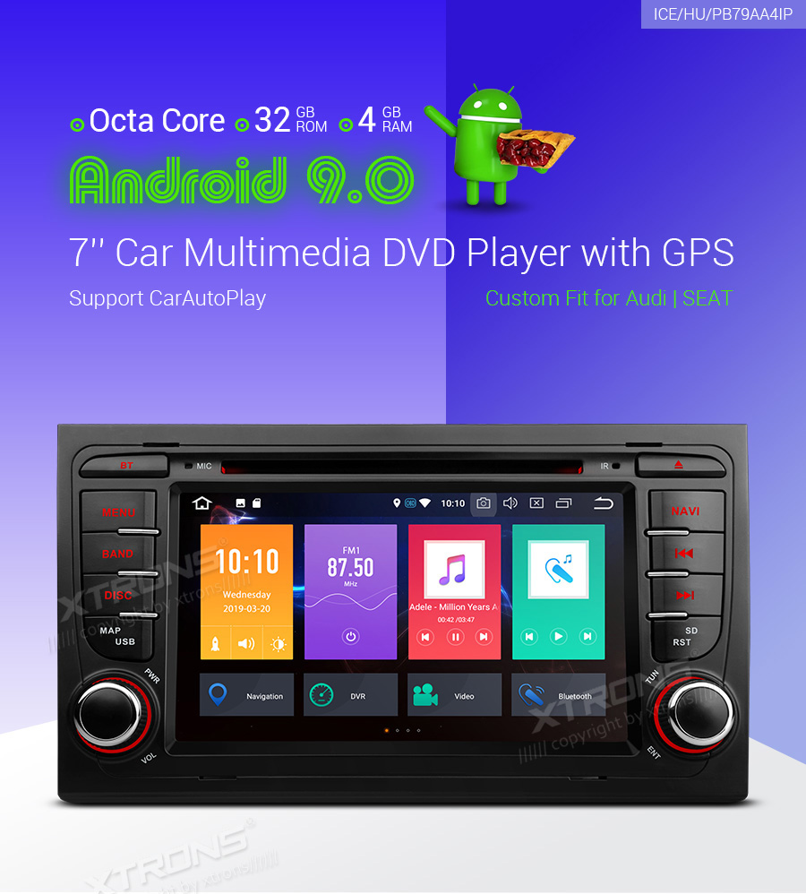 Details about For Audi A4 S4 RS4 2000-2008 Android 9 0 Car Radio Bluetooth  DVD Stereo GPS OBD2