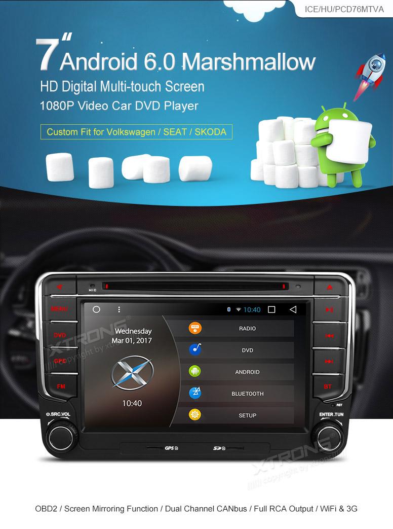 Mk5 mk6 golf gti 2016 car golf mk5 radio golf mk5 mk6 car stereo dvd - Xtrons Android 4 4 Vw Golf Mk5 Car Radio Stereo Dvd Cd Sat Nav Gps Dab Wifi 3g