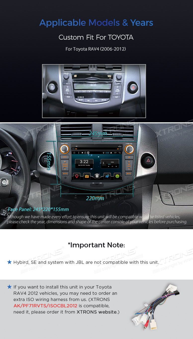 Android 71 Car Dvd Gps Navigation Wifi Radio Stereo For Toyota Rav4 Wiring Harness Although We Have Made Every Effort To Ensure This Item Is Compatible With The Listed Vehicles Please You Correct Shape Style Oem Unit