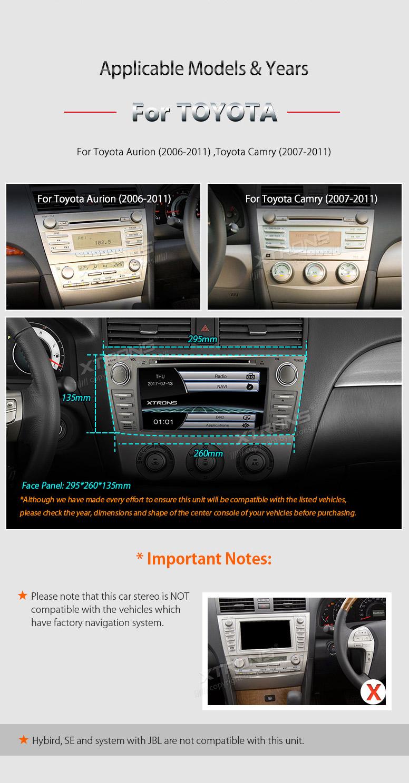 gps navigation system car stereo dvd player radio fm for toyota camry 2007 20. Black Bedroom Furniture Sets. Home Design Ideas