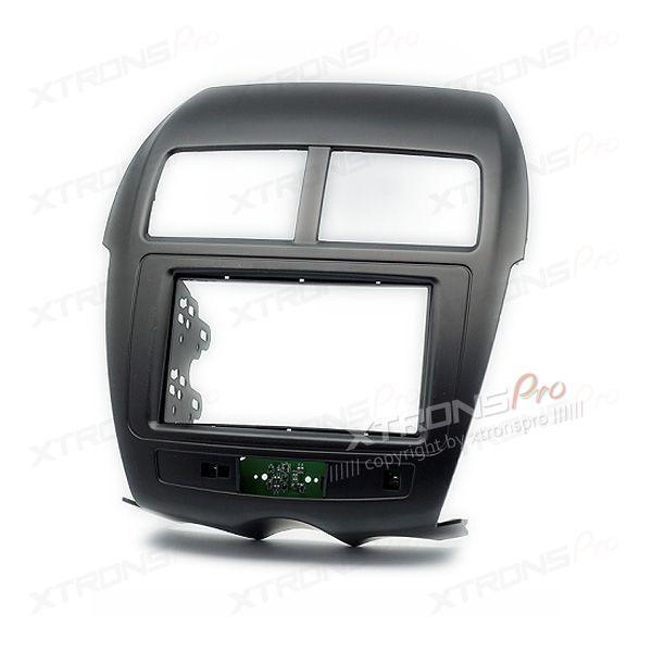 Radio Facia for MITSUBISHI/PEUGEOT/CITROEN Headunit Fascia Panel Fitting Kit Trim(w/PCB for Airbag and Alarm signal)