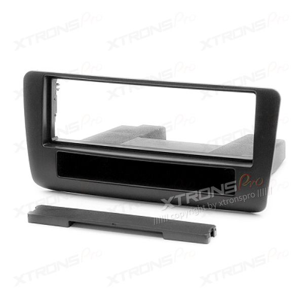 Audi A1 Single Din Car Stereo Fascia Panel Plate with Pocket for Aftermarket Stereo