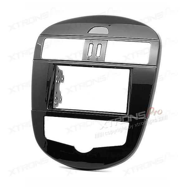Radio Fascia for NISSAN Tiida Double Din Stereo Facia Fit Kit Panel Plate(Auto Air-Conditioning)