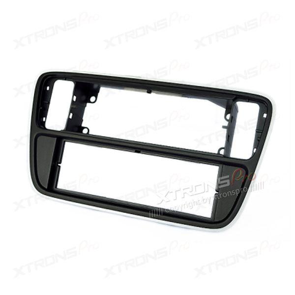 VW, Skoda, Seat Panio Black Single Din Fascia Panel Fascia Surround Adaptor Plate