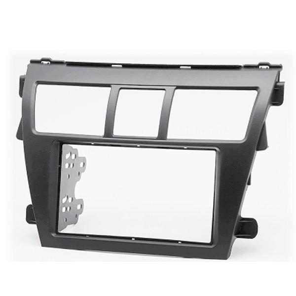 Black Car CD Stereo Surround Fascia Panel Adaptor for TOYOTA Vios Belta Yaris Sedan