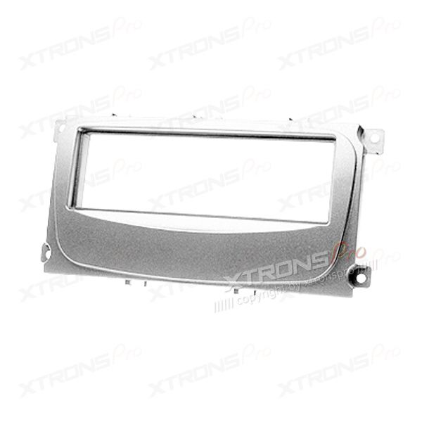 FORD Focus Silver Single Din Fascia Panel Facia Surround Adaptor Plate