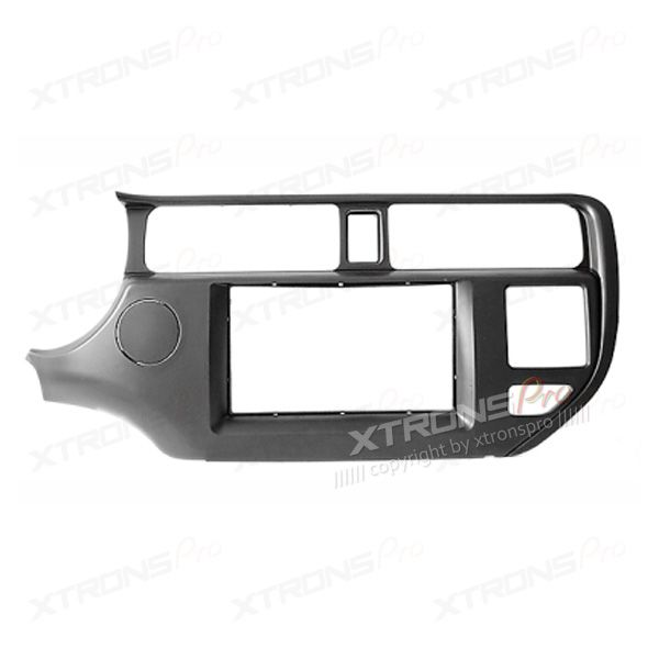 Double Din In-dash Car Audio Installation Kit Fascia Plate for KIA Rio, K3, Pride with SRS