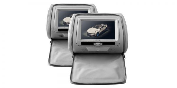 "Xtrons HD705 2 x 7"" Digital In Car Headrest DVD Players"