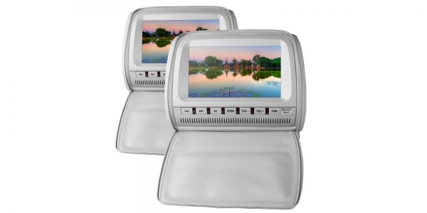 """Xtrons HD905 2 x 9"""" In Car Headrest DVD Players with Zipper Cover"""
