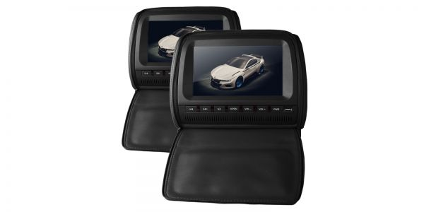 "Xtrons HD905 2 x 9"" In Car Headrest DVD Players with Zipper Cover"