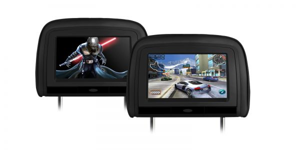 "Xtrons HD909 2 x 9"" In Car Headrest DVD Players with HDMI Input"