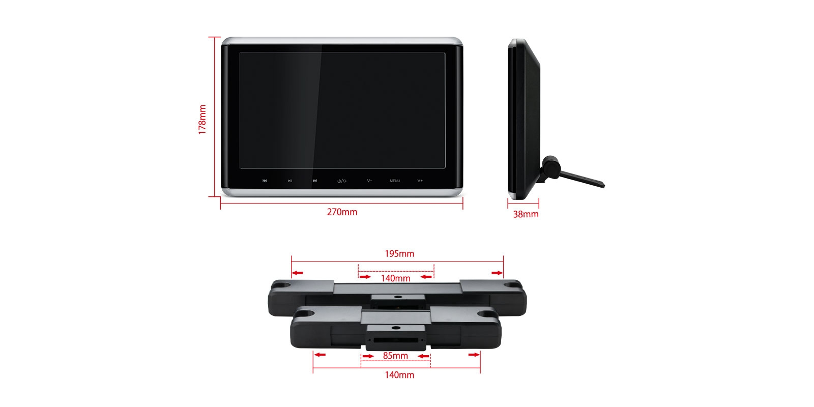 102 High Definition Digital Screen Car Clip On Headrest Dvd Player Nissan Monitor Wiring Harness Prevnext