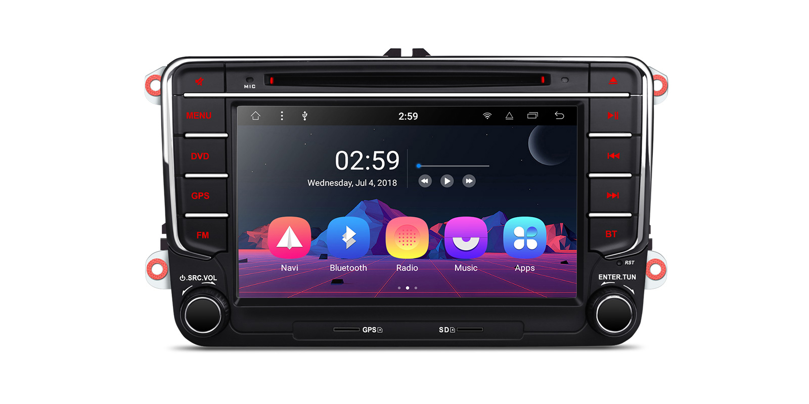 XTRONS 10.1 Inch Car Stereo Head Unit Android 7.1 In-Dash 16G ROM Multimedia Video Player Support Bluetooth 5.0 OBD2 DVR Full RCA Output WiFi 4G GPS fits for Skoda Octavia